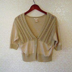 Sundance Short Sleeve Sweater Cardigan Vest Linen